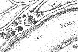 Das Landhaus Catharina Belgicas zu Kesselstadt bei Hanau um 1636.