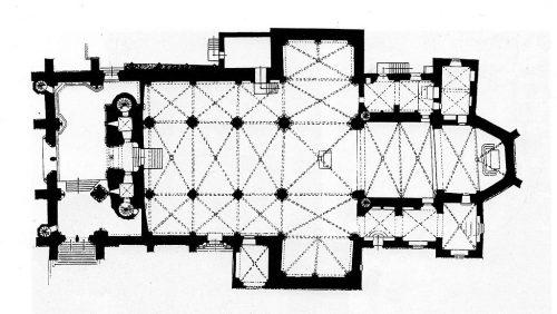 Grundriss des Doms mit den heutigen Ausmaßen. Quelle: Wikimedia Commons, gemeinfrei.