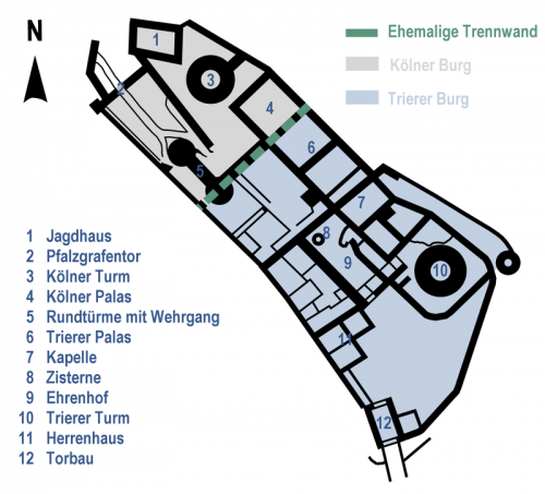 Grundriss Burg Thurant Quelle: Wikimedia Commons, CC 0 / gemeinfrei