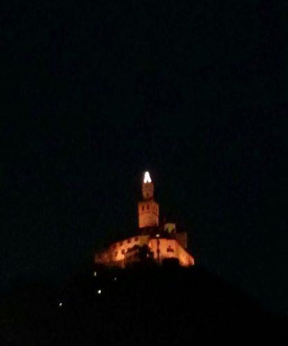 Marksburg bei Nacht im Dezember (Foto: Verf.)