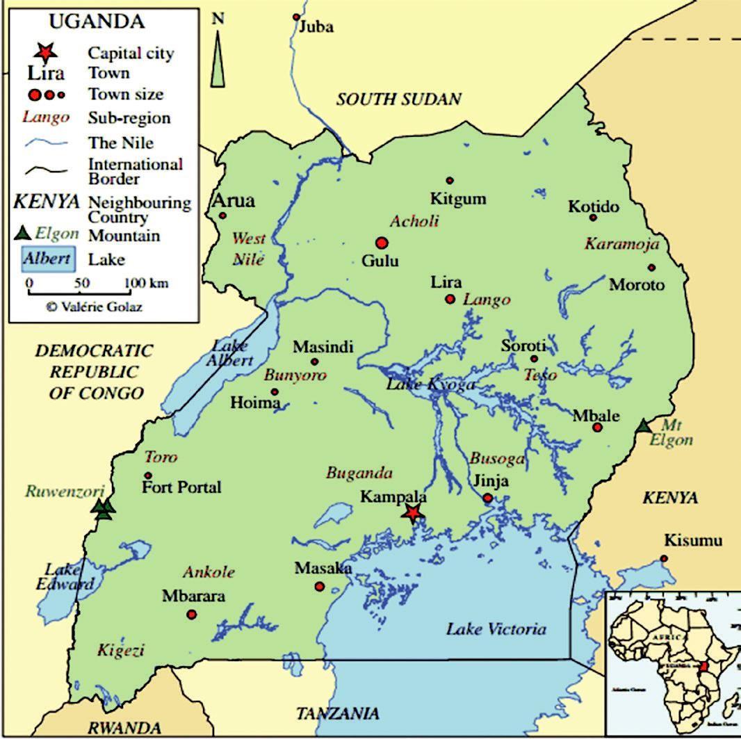 Uganda Map.