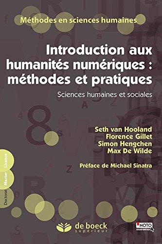 Introduction aux humanités numérqiues- DeBoeck