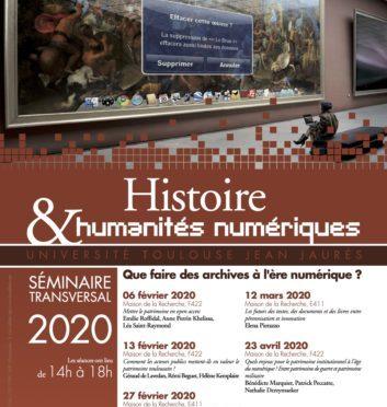 Que faire du patrimoine à l'ère numérique ? Séminaire Histoire et Humanités numériques – Université de Toulouse