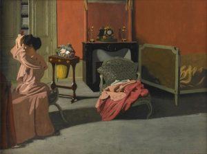 Félix-Vallotton-Femme-se-coiffant-1900-Orsay