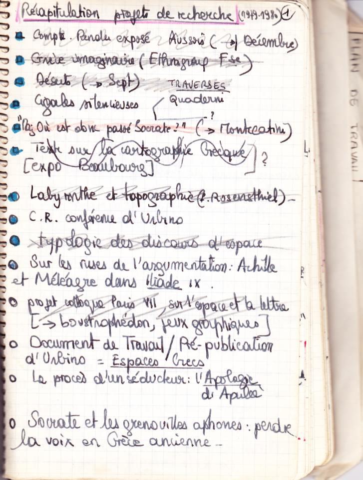 Archéologie du carnet de recherche (1) | Lieux de savoir