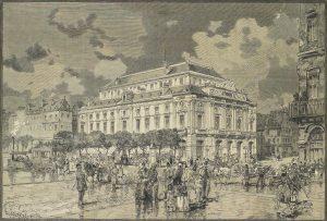 """Théâtre des arts, """"Le Monde illustré"""", 30 septembre 1882, p.221. © Joann Élart"""
