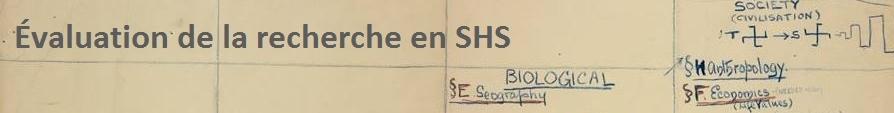 Évaluation de la recherche en SHS
