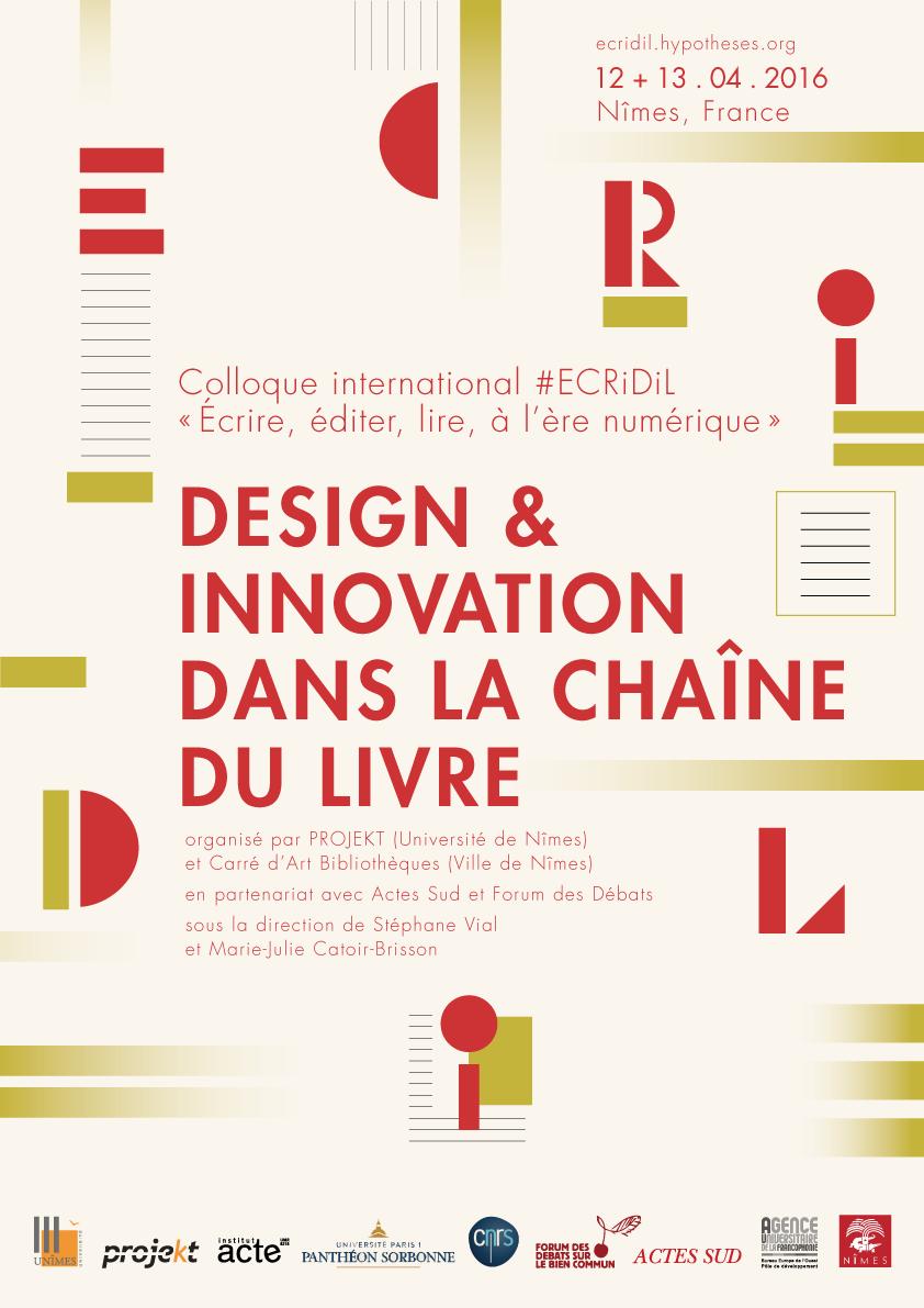 colloque ECRiDiL Nîmes 2016