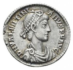 Valentinien II silique recto