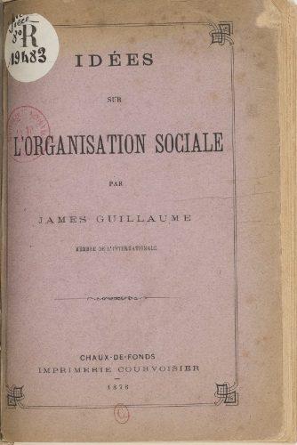 Idées sur l'organisation sociale