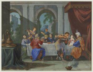 Joseph dîne avec ses frères. Photo (c) Musée du Louvre, Dist. RMN-Grand Palais