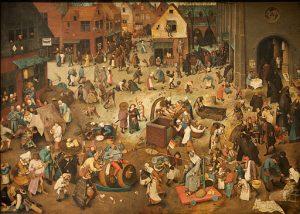 Le combat de Carnaval et de Carême, P. Bruegel l'Ancien, 1559 (a) domaine public