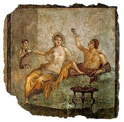 Scène de banquet, Herculanum (c. 50 av. J.-C.) (c) domaine public
