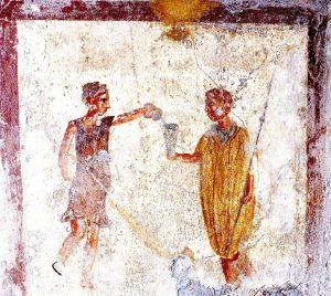 """""""Scène d'auberge"""", Pompéi (VI 10, 1.19) (c) PPM, 4, fig. 7, p. 1011"""