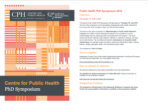 Flyer used to advertise the symposium (© Public Health Institute, Liverpool John Moores University)
