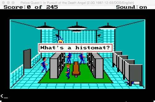 "What's a ""Histomat""? (Eugen Pfister / Police Quest 1 / 1.7.2016)."