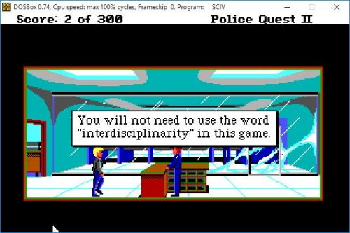 "You will not need to use the word ""interdisciplinarity"" in this game."
