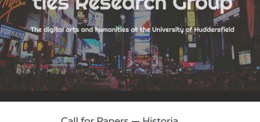 Abb: Screenshot Nolden, Blog Digital Arts and Humanities Research Group