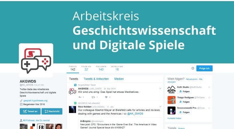 Der Twitter-Account ist eine wesentliche Stütze der Öffentlichkeitsarbeit über das Blog hinaus. (Abb.: Screenshot, Nolden)