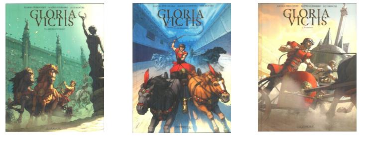 Gloria Victis-couvertures tomes 1 à 3