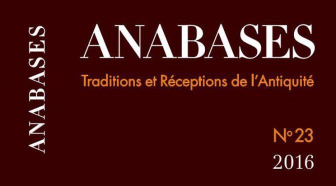 Recherches : compte rendu Anabases 23, 2016 – 2nde partie