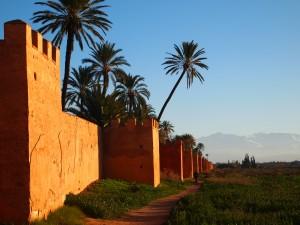 Enceinte du jardin de l'Agdal, Marrakech (M. Van Der Rest)