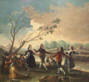 Baile a orillas del Manzanares, 1776-77, Francisco de Goya y Lucientes (1746-1828), oil on canvas, Madrid, Museo del Prado, P00769, www.museodelprado.es