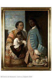De chino cambujo e india, Ioba, Casta Painting, Miguel Cabrera, Mexico, 1763, oil on canvas, 134 x 101 cm, Madrid, Museo de América, inv. 00011