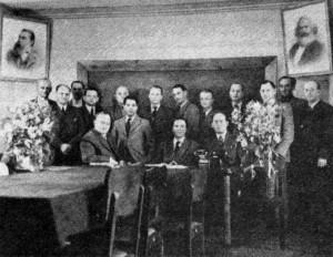 L'équipe des spécialistes allemands de Podberez'e