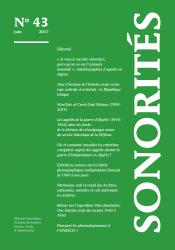 Lecture : Entretiens sonores sur les labels phonographiques indépendants français de 1969 à nos jours