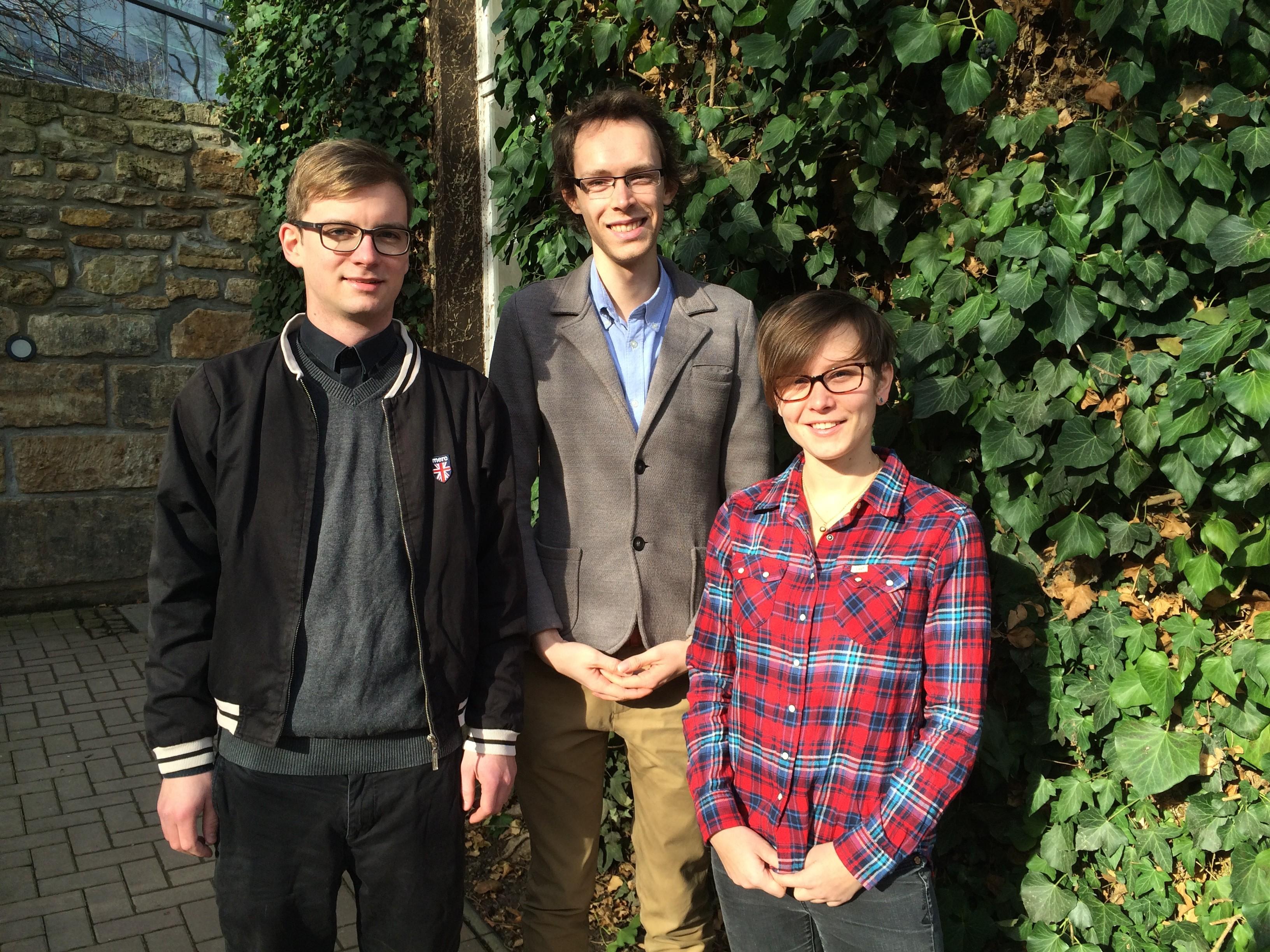 Das Team: Robert Pursche, Benedikt Rothhagen und Svea Lehmann.