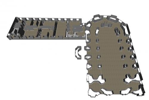 Premier modèle 3D « brut » © ETIS