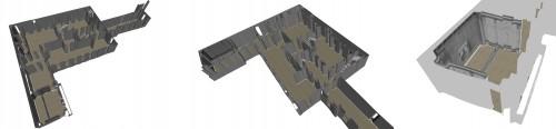 Modèle 3D texturé de l'appartement du Roi. © ETIS