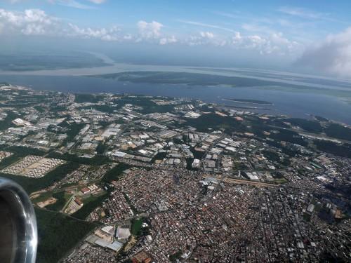 AM Manaus residences, usines et rencontre des eaux
