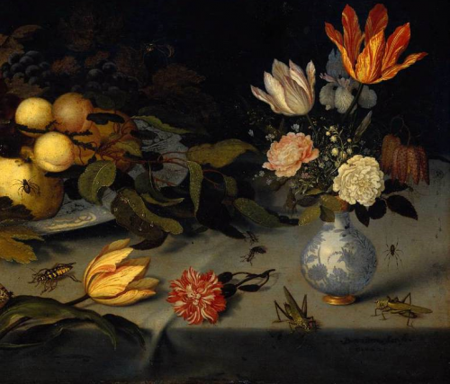 Ausschnitt Balthasar_van_der_Ast_-_Flowers_and_Fruit