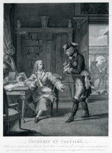 Pierre Charles Baquoy nach Nicolas André Monsiaux, Friedrich II. von Preußen und Voltaire, SPSG, GK II (10) 1413
