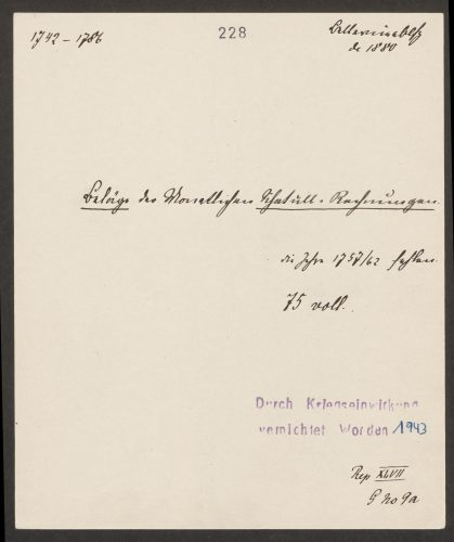 Findmittel aus dem ehemaligen Brandenburg-Preußischen Hausarchiv
