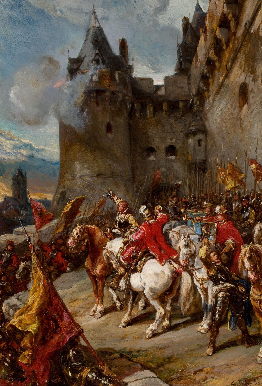 Defending the Château, Eugène Isabey