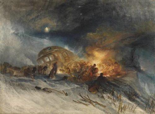 Messieurs les voyageurs au retour d'Italie (par la diligence) dans une tempête de neige sur la Montagne de Tarare 22 janvier 1829 William Turner The British Museum