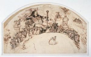 Grandville_Balzac et les personnages de la Comédie humaine