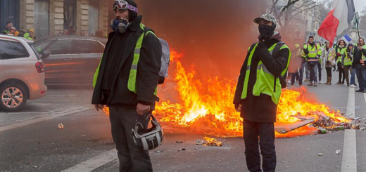 Les Gilets Jaunes par Patrice Calatayu en CC sur Flickr : https://www.flickr.com/photos/patrice_calatayu/45603642835/ (photo du 29 décembre 2018)