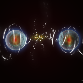 Artist's rendition of NIST's speedy ions (credit: Adam Wagner/NIST)
