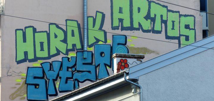 Graffiti sur 'dent creuse'