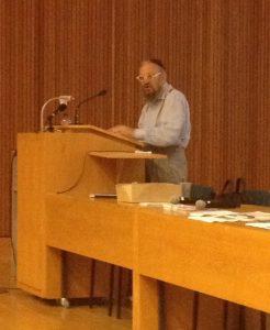 Daniel Boyarin bei seinem Vortrag an der Freien Universität.