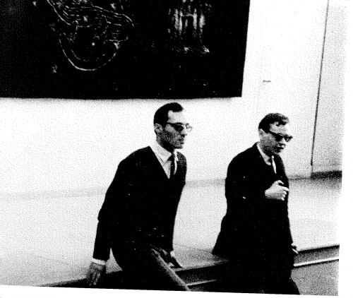 Figure 3. Roland Grünberg et Jerzy Grotowski. Archives privées de Roland Grünberg.