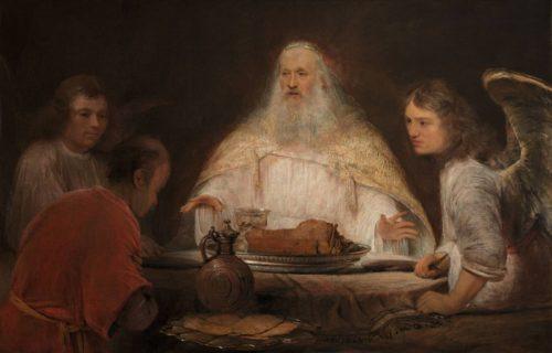 Wikimédia Commons - L'hospitalité d'Abraham, Arent de Gelder vers 1680.