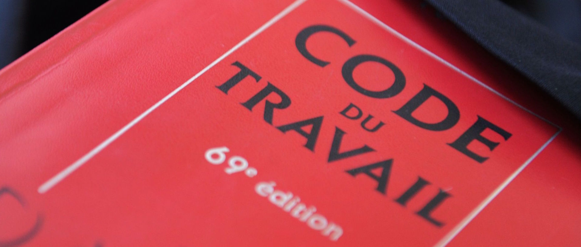 "A picture taken on May 24, 2012 shows a copy of the French labour code (""code du travail"" in French), in Quimper, western France."