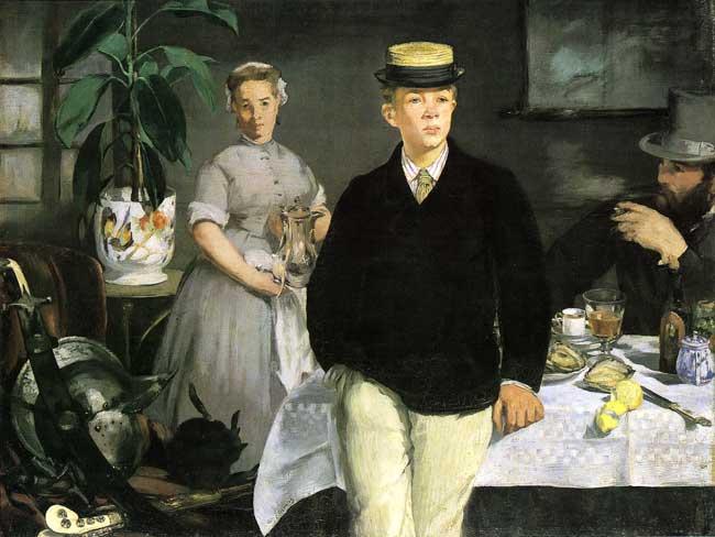 René Maizeroy rend visite à Edouard Manet