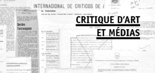 Couverture de la publication Critique d'art et médias