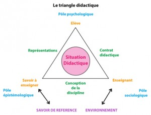Fig 1 - Triangle didactique